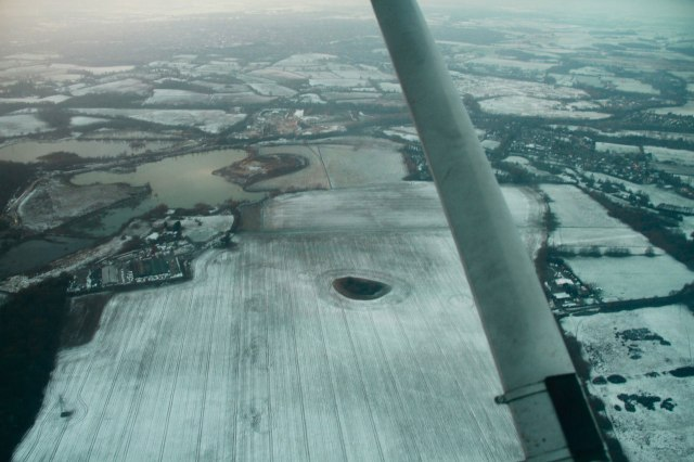 North London, from the air, after the snowfall