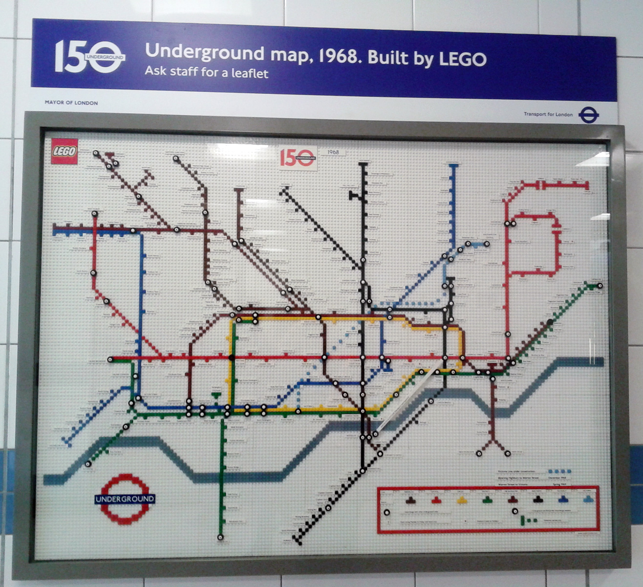 London Underground maps its way with Lego