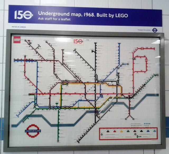 London Underground maps its way with Lego