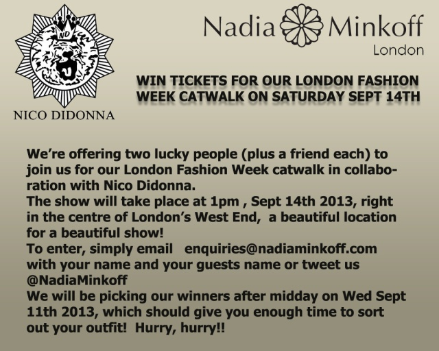 WIN tickets for our London Fashion Week catwalk!