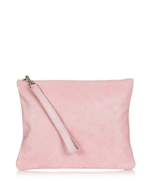 oversized stingray pouch, pink