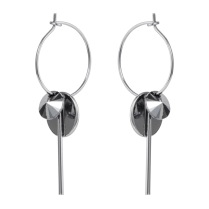 Hoop cluster earrings silver /chrome