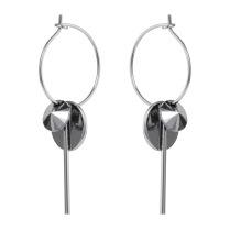 Hoop cluster earrings silver /chrome