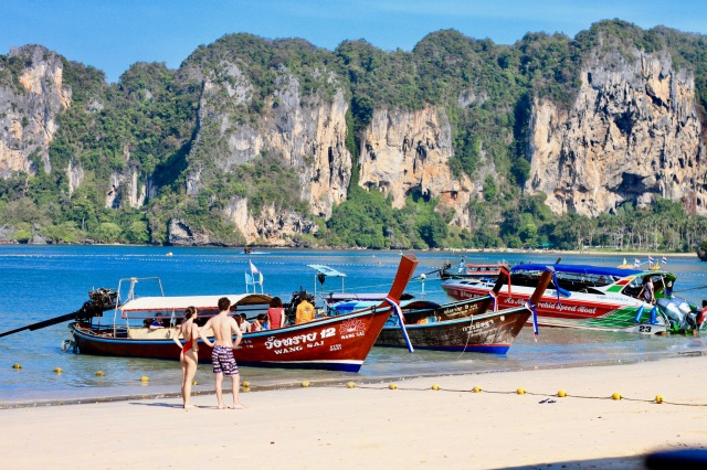 Railay long boats