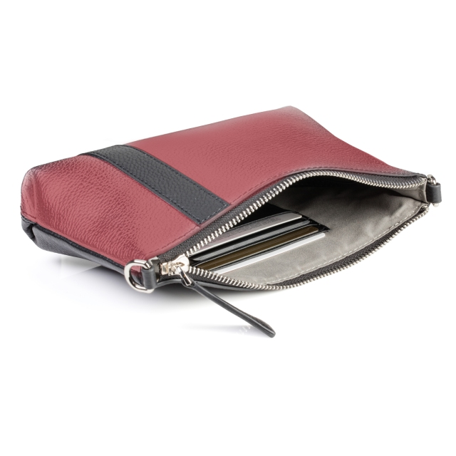abstraction pouch interior claret
