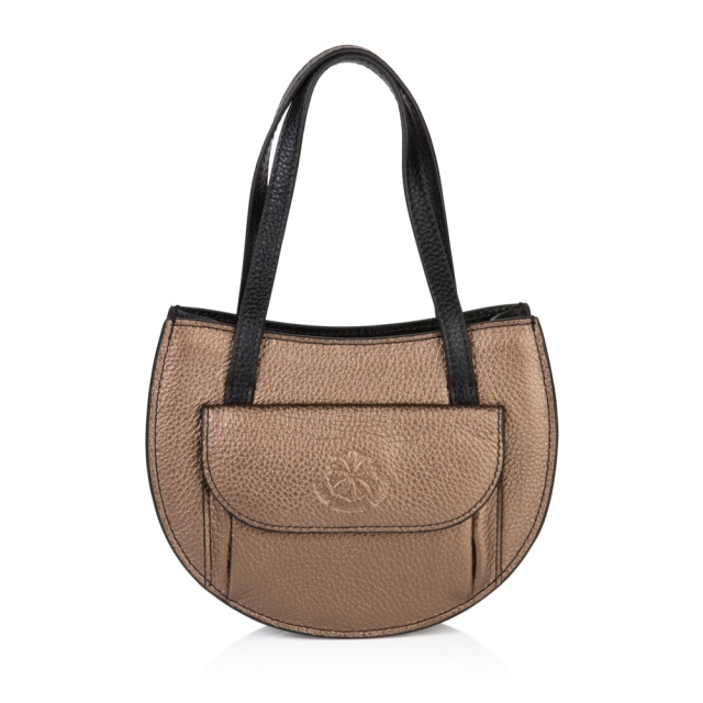 The Barbara half moon bag , bronze
